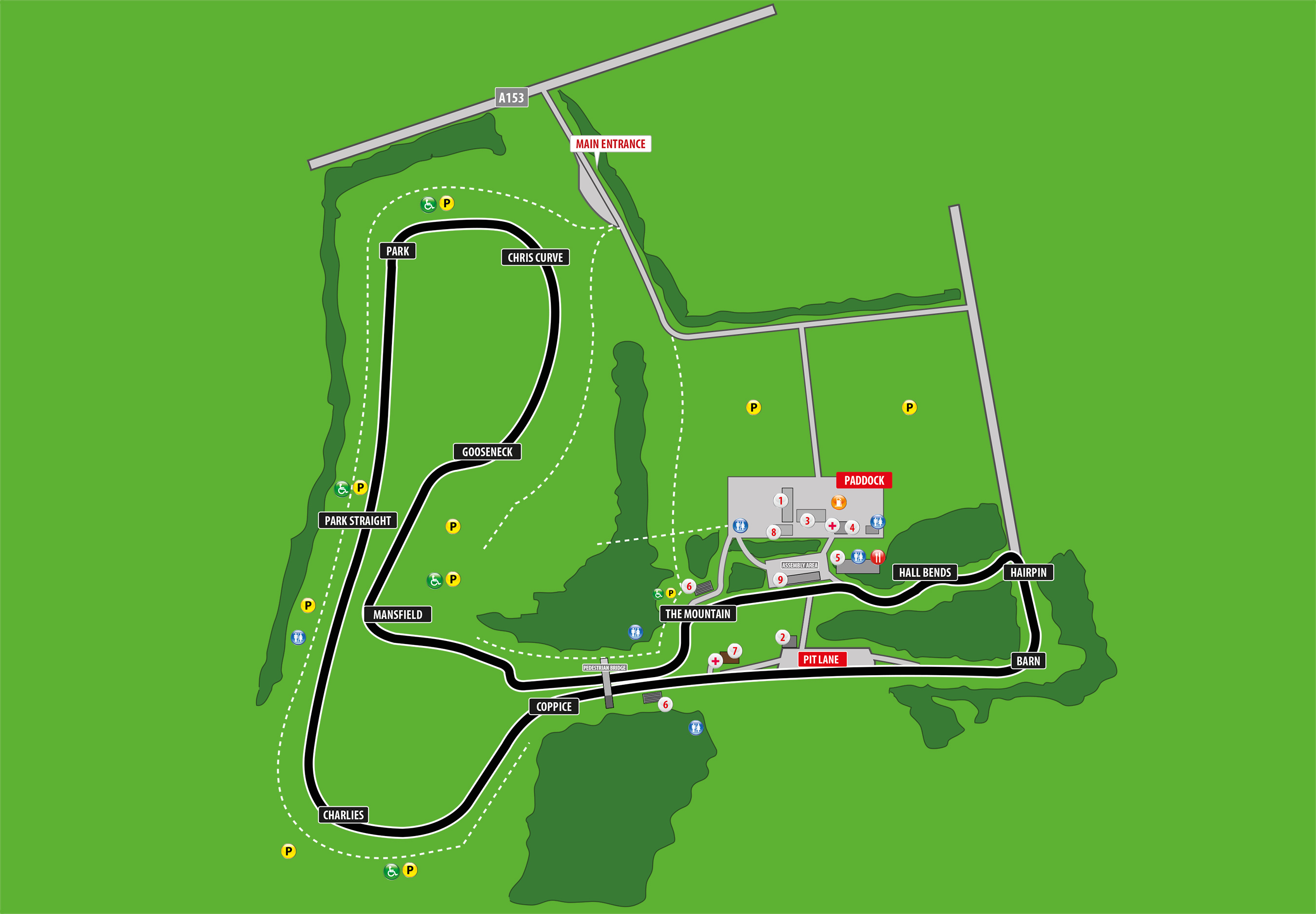 Map Of Uk Race Tracks.Cadwell Park Circuit Information