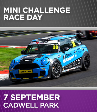 MINI Challenge Race Day - Cadwell Park